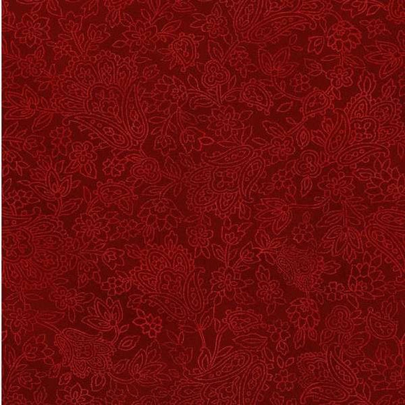 Fabri-Quilt Roses Are Red Red Tonal