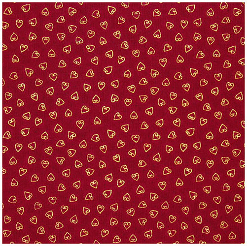 Stof Quilters Basic Dark Red