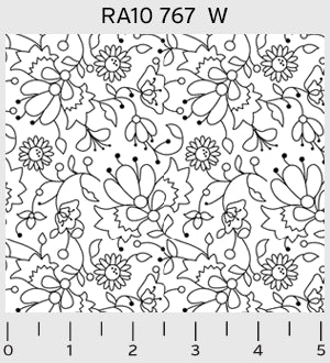 (SEE NOTE) P&B Textiles Ramblings 10 White