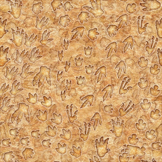 Quilting Treasures Jurassic Jungle Sand