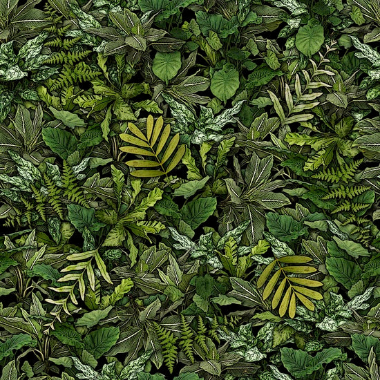 Quilting Treasures Jurassic Jungle Jungle