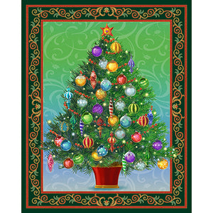 "Quilting Treasures Holiday Treasures Multi 36"" Panel"