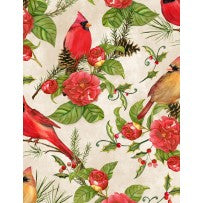 Wilmington Prints Christmas in the Wildwood Beige Multi