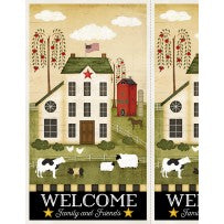 "Wilmington Prints The Way Home Multi 24"" Panel"