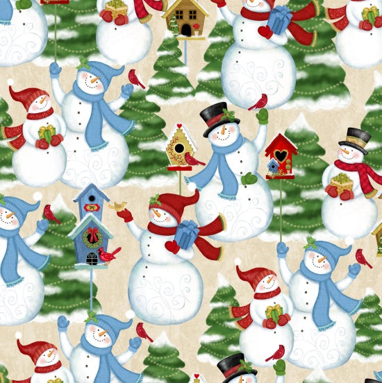 Studio e Fabrics Winter Joy Beige Multi