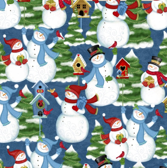 Studio e Fabrics Winter Joy Navy Multi