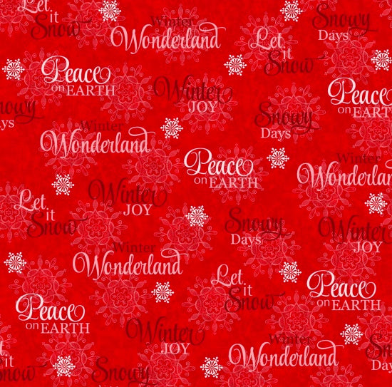 Studio e Fabrics Winter Joy Red