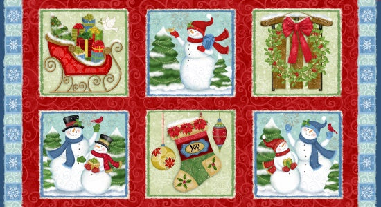 Studio e Fabrics Winter Joy Red Multi 24