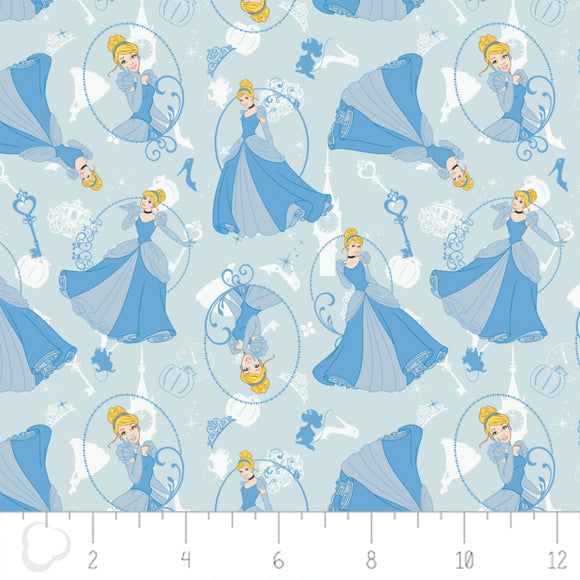 Camelot Fabrics Disney Princesses Blue