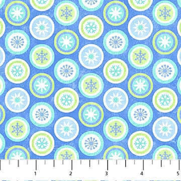 Northcott Let It Snow Flannel Blue