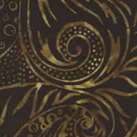 Fresh Water Designs Java Batiks Tigers Eye Black