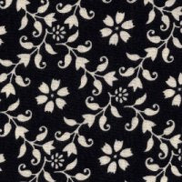 Blue Hill Fabrics Paris Roses Black