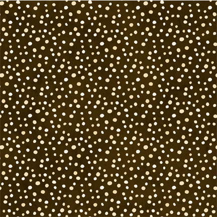 Wilmington Prints Petite Dots Dark Brown