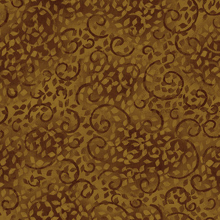 South Sea Imports Complements Leafy Scroll Brown