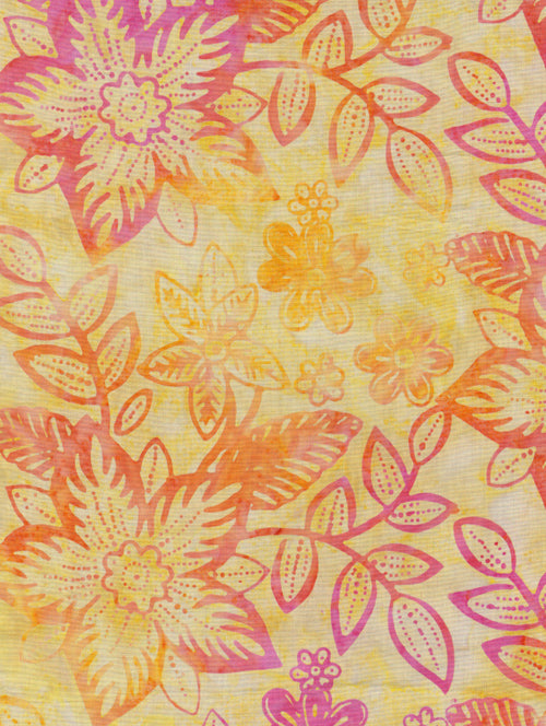 Timeless Treasures Tonga Batik Lemon