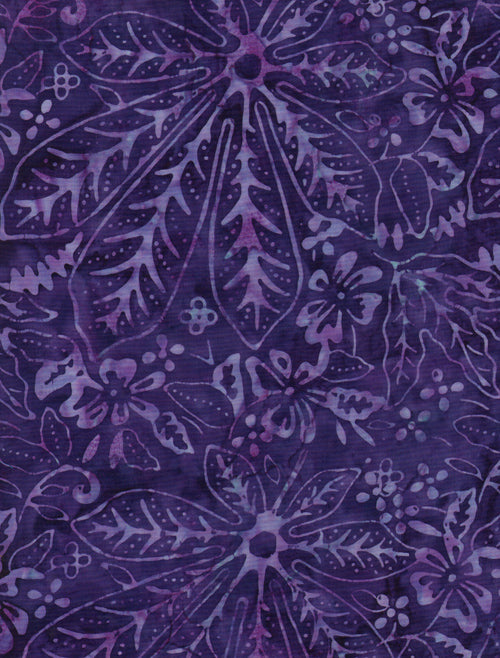 Timeless Treasures Tonga Batik Plum