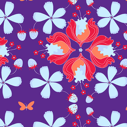 Andover Fabrics Hothouse Flowers Purple