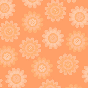 Andover Fabrics Let's Play Dolls - Summer Fun Orange