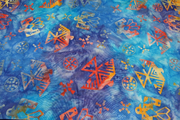 Avlyn Batiks Java Origins Blue Pool