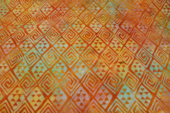 Avlyn Batiks Java Origins Sunrise Orange