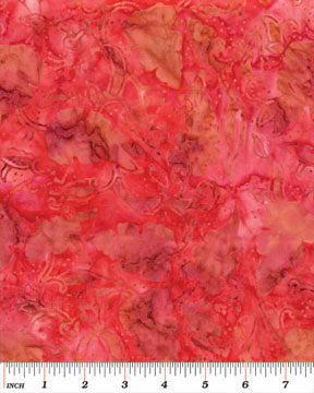 Batiks Tropicana Balis Light Red