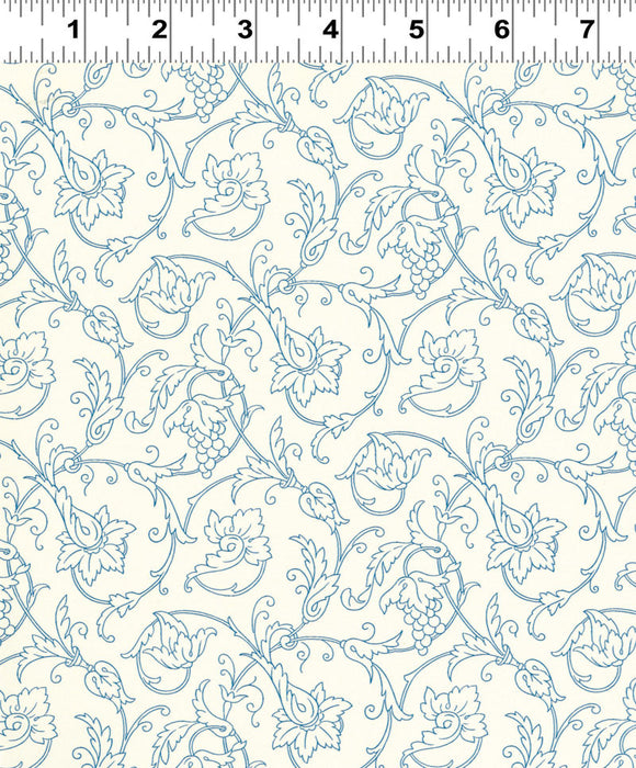 Clothworks Everything Blue Cream