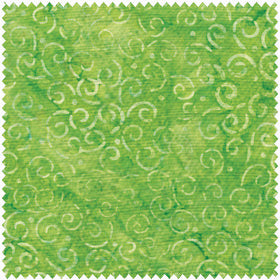 Clothworks Fresh Batiks Lime