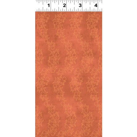 Clothworks Hummingbird Garden Dark Orange