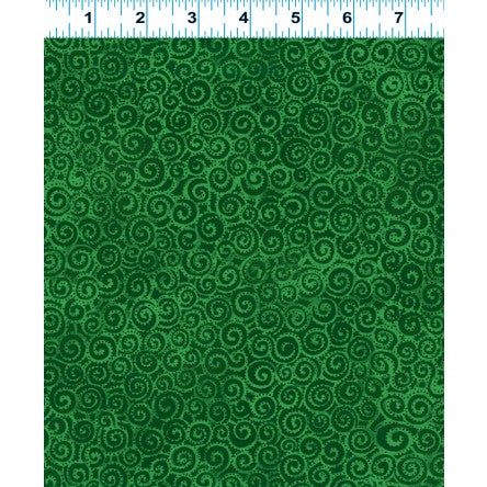 Clothworks Laurel Burch Basics Dark Green