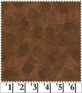 Clothworks Swirls Brown