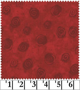 Clothworks Swirls Light Red