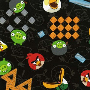 David Textiles Angry Birds Black