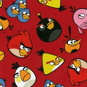 David Textiles Angry Birds Red
