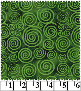 Galaxy Java Batiks Green