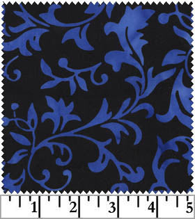 Galaxy Jasmine Batiks Dark Blue