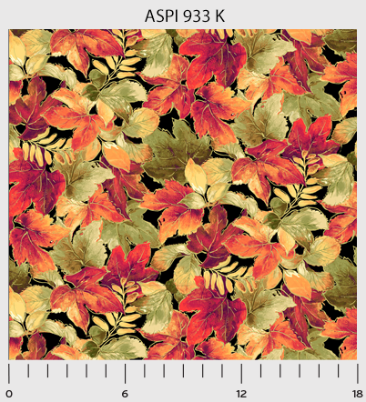 P&B Textiles Autumn Spice Black Multi