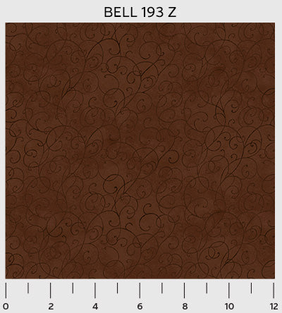 P&B Textiles Bella Suede Chocolate