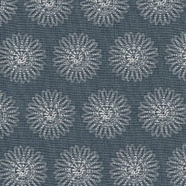 Quilting Treasures Moonflower Slate Blue