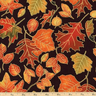 South Sea Imports Autumn Treasures Black Multi