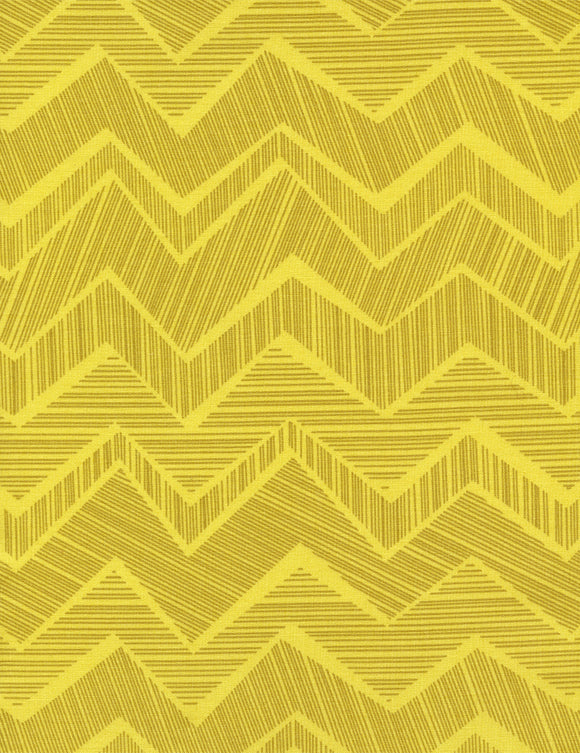 Timeless Treasures Chevron Citron