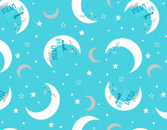 Wilmington Prints Sweet Dreams Little One Aqua