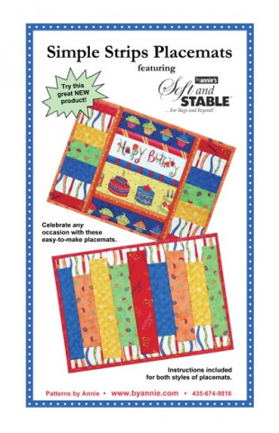 byAnnie Simple Strips Placemats Pattern