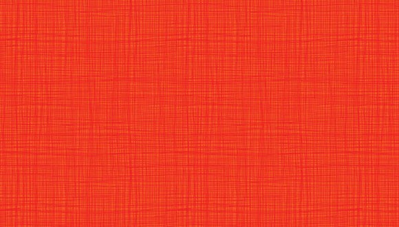 Makower Linea Texture Red/Orange