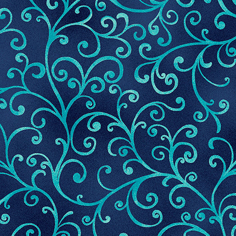 Quilting Treasures Ariel Navy