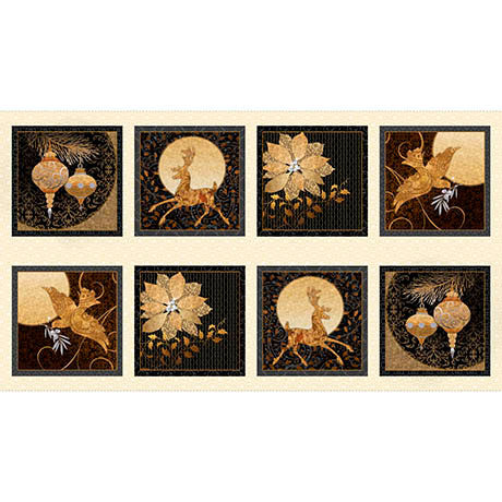 Quilting Treasures A Golden Holiday Gold 24