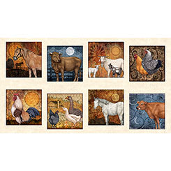 "Quilting Treasures Bountiful Multi 24"" Panel"