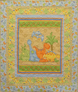 Land Before Time Flannel STORE SAMPLE QUILT - ONLY ONE AVAILABLE