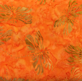Benartex Batiks In the Garden Balis Orange