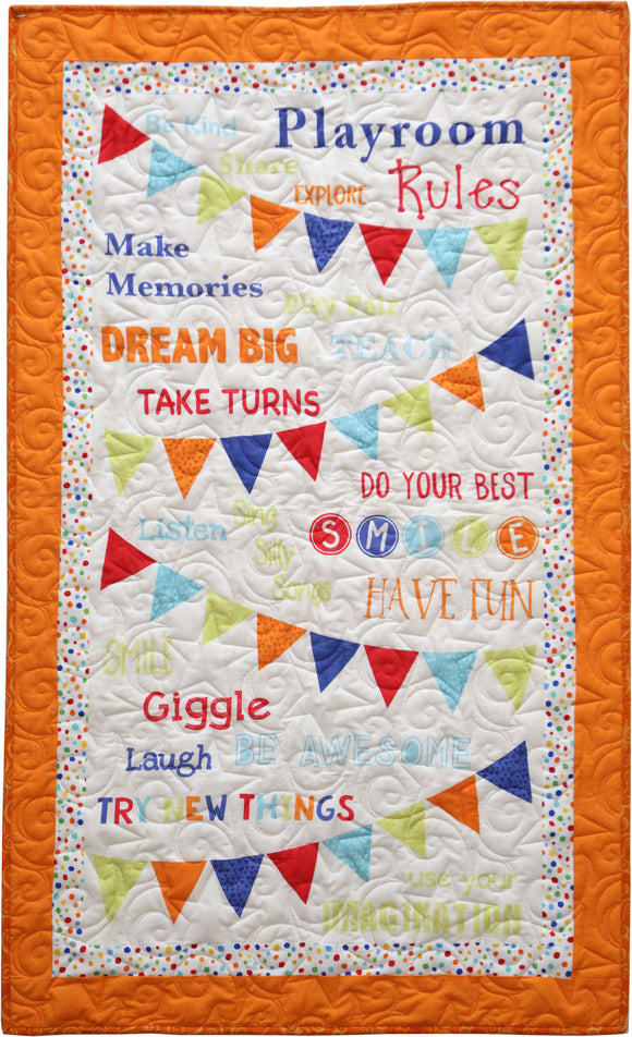 Playroom Rules Quilt Kit