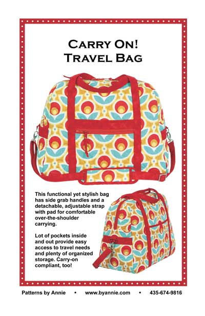 byAnnie Carry On! Travel Bag Pattern